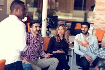 board members sitting in a meeting