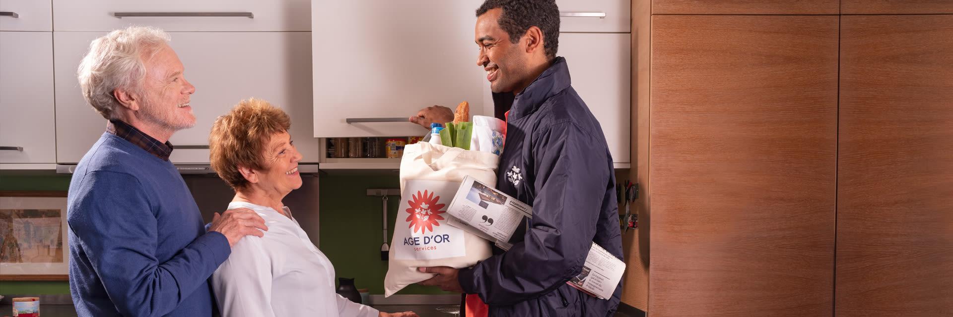 Livraison de courses à domicile pour les personnes agées - Âge d
