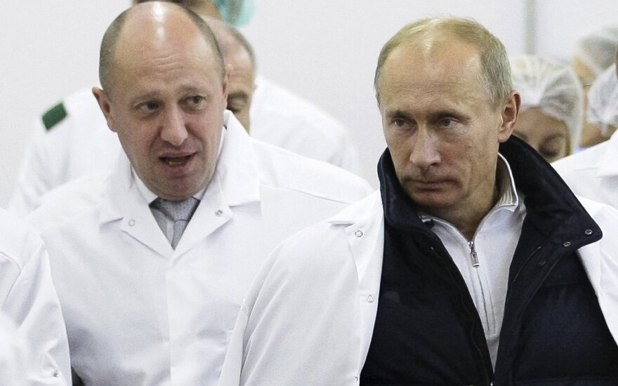 Евгений Пригожин и Владимир Путин
