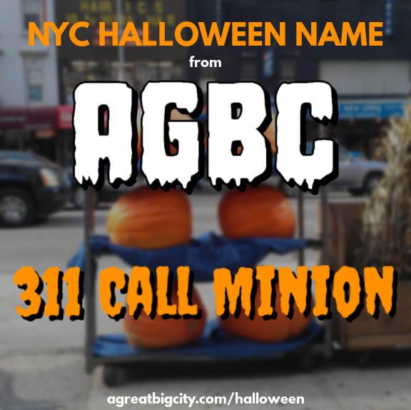 Your AGBC Halloween costume idea is 311 Call Minion!