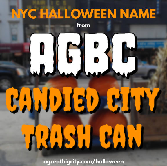 Your AGBC Halloween costume idea is Candied City Trash Can!