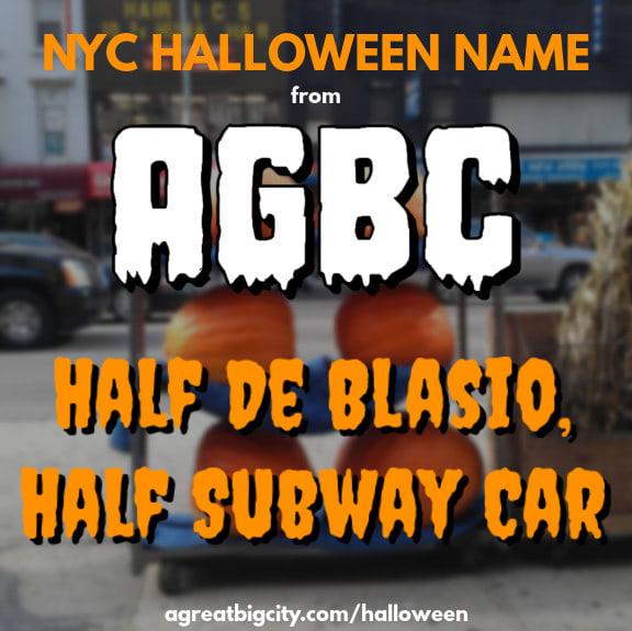 Your AGBC Halloween costume idea is Half De Blasio, Half Subway Car!