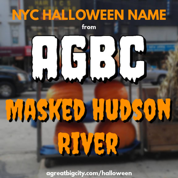 Your AGBC Halloween costume idea is Masked Hudson River!