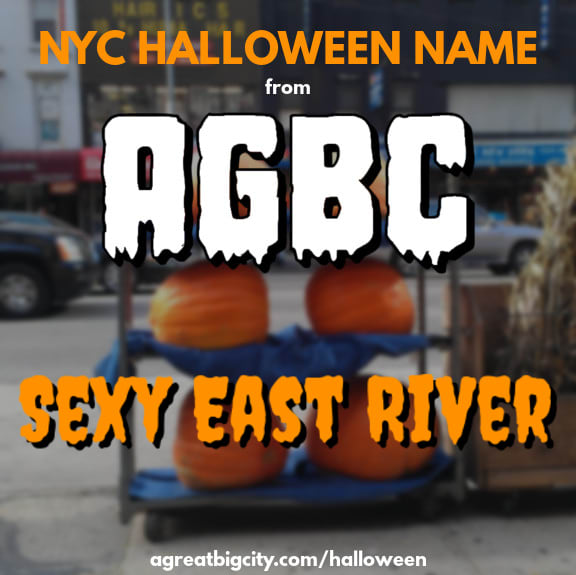 Your AGBC Halloween costume idea is Sexy East River!