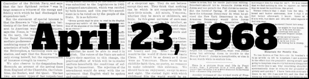 April 23, 1968 in New York history