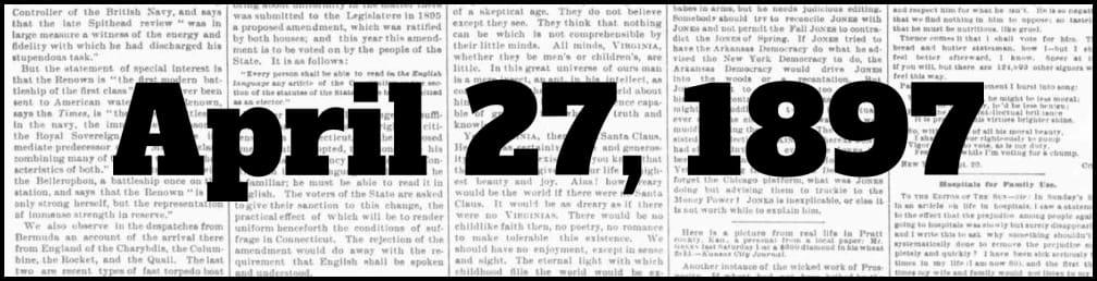 April 27, 1897 in New York history
