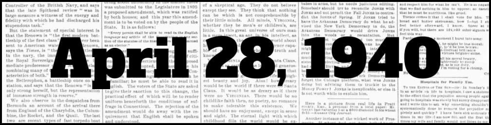 April 28, 1940 in New York history