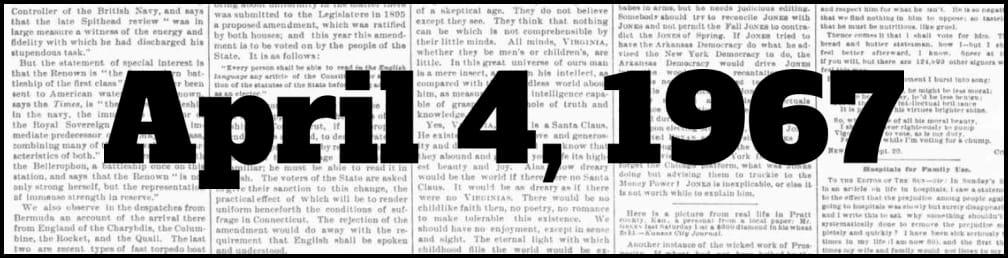 April 4, 1967 in New York history