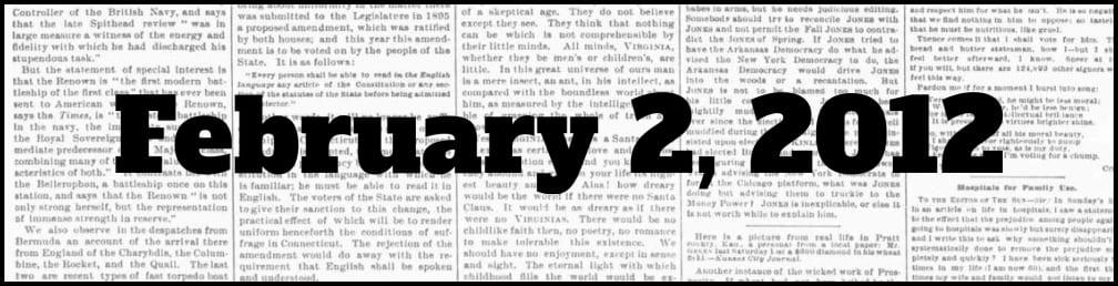 February 2, 2012 in New York history