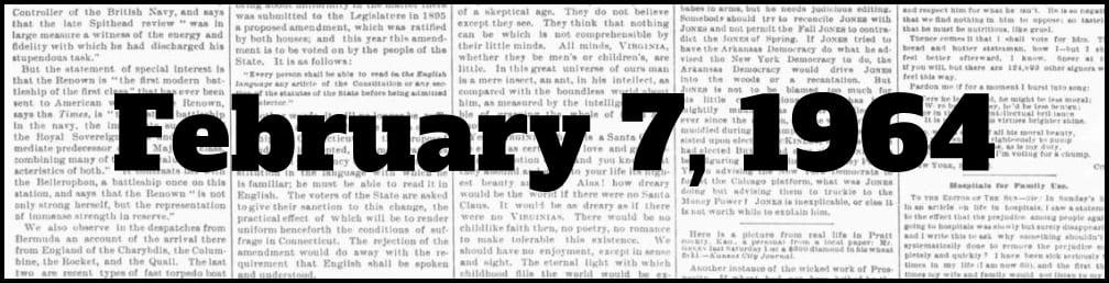 February 7, 1964 in New York history