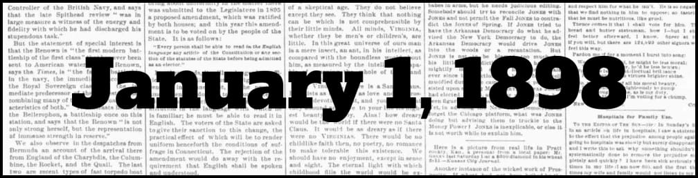 January 1, 1898 in New York history