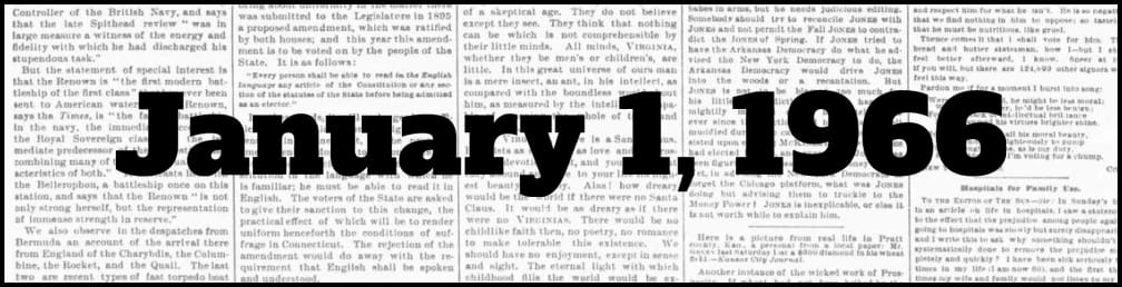 January 1, 1966 in New York history