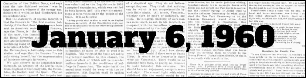January 6, 1960 in New York history