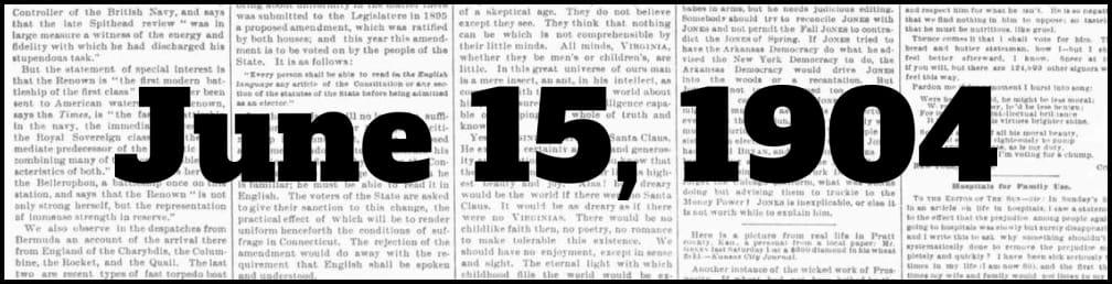 June 15, 1904 in New York history