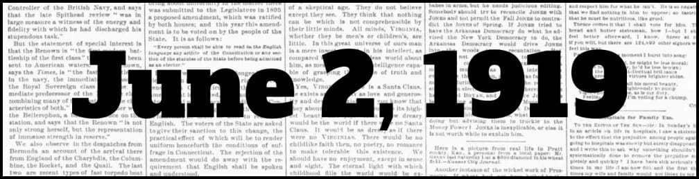 June 2, 1919 in New York history