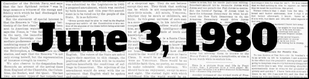 June 3, 1980 in New York history