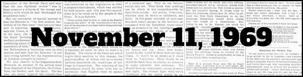 November 11, 1969 in New York history