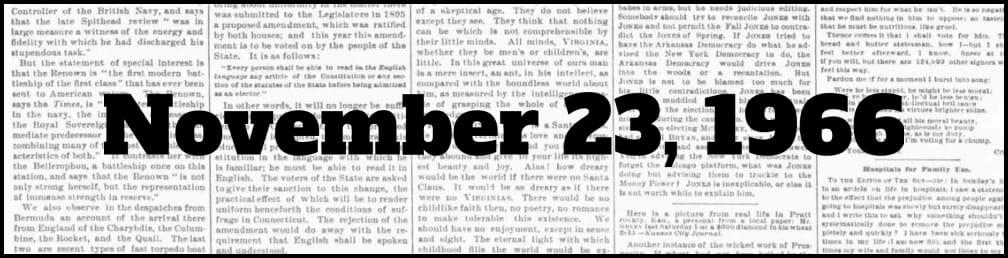 November 23, 1966 in New York history