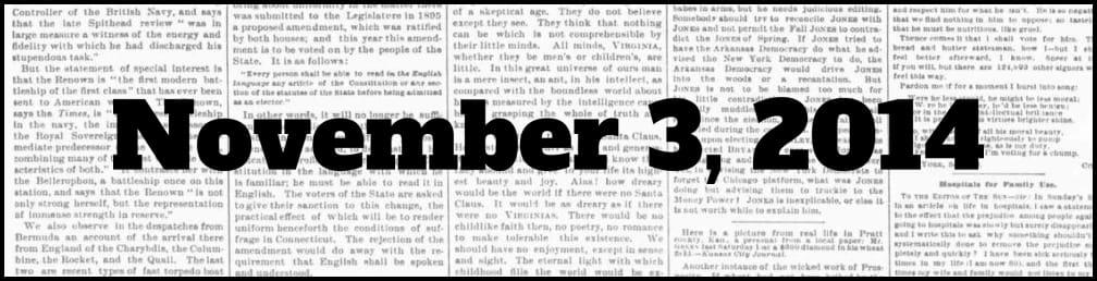 November 3, 2014 in New York history