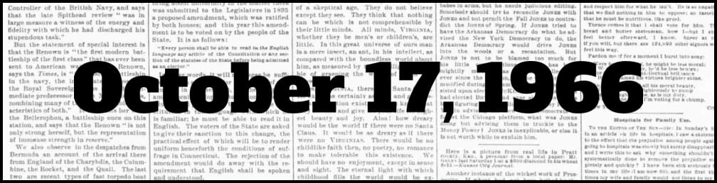 October 17, 1966 in New York history