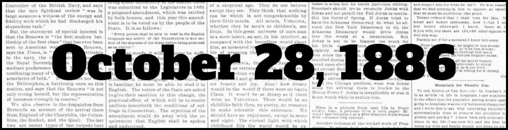 October 28, 1886 in New York history