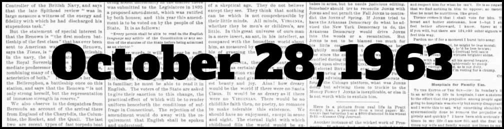 October 28, 1963 in New York history