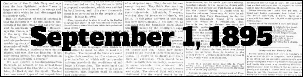 September 1, 1895 in New York history
