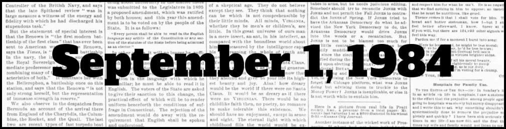 September 1, 1984 in New York history