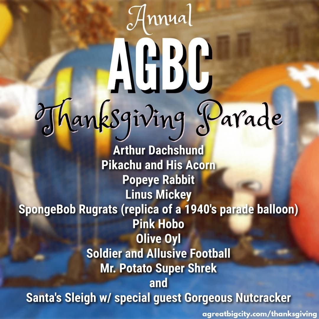 Your AGBC Thanksgiving Parade Balloons!