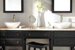 Bathroom bench and stool