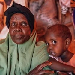 Hjelp sultrammede i Somalia