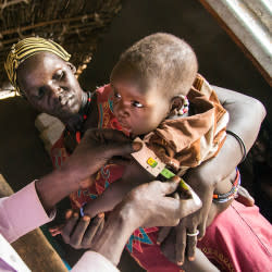 Lifesaving aid to people facing starvation