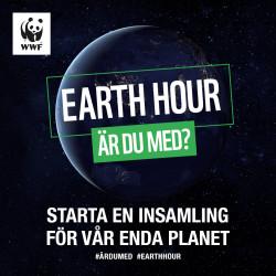 Earth Hour – 28 mars, kl. 20:30