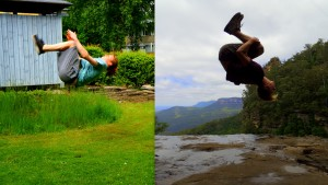Backflips for rainforest!