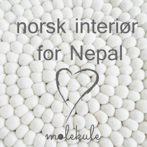 Norsk interiør med hjerte for Nepal