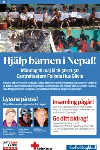Insamling till Röda Korsets arbete i Nepal