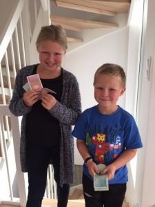 Jonas og Matilde vil hjelpe barna i Syria!