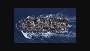 Innsamlingsbøsse for flyktningene