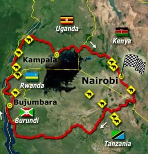 Vollan sykler Afrika 2016.