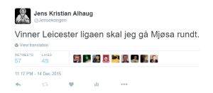 Alhaug går Mjøsa rundt mot kreft