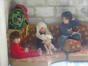 Krigsrammede barn og familier i Syria