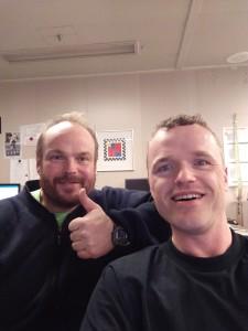 Peri og Roy ror fra Årdal (inderst i Sognefjorden) til Sandnes