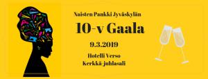 Onnittele 10-vuotiasta Naisten Pankki Jyväskylää