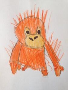 Lilly och Alfred vill rädda orangutanger!