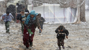 Syriske flyktninger trenger hjelp i vinyerstorm