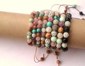 Prachtige handgemaakte sieraden natuursteen kralen
