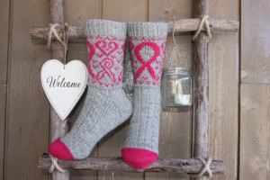 Strikk flotte Oktobersløyfer sokker