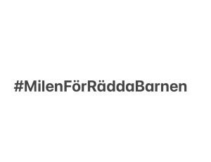 #MilenFörRäddaBarnen