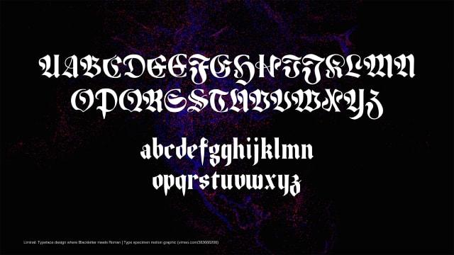 Liminal: Typeface design