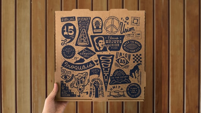 Union 15 Pizza Box